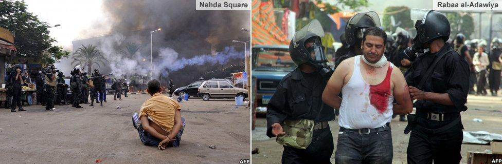 Arrests at the Nahda and Rabaa al-Adawiya camps