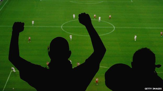 Fans at match