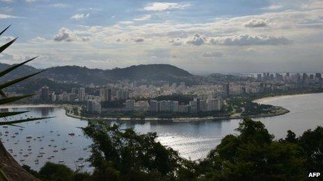 Rio de Janeiro view, Botafogo/Flamengo