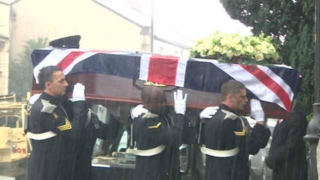 Funeral of Cpl James Dunsby