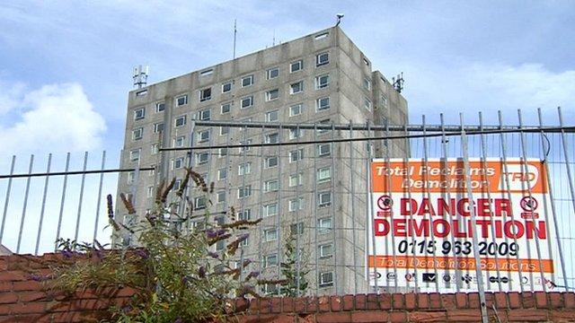 Derelict council flats