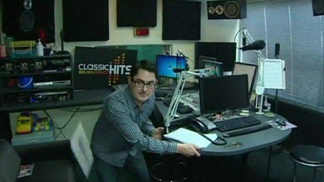 Staff at a Wellington radio station took cover under their desks
