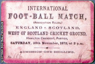 A ticket to the 1872 football match