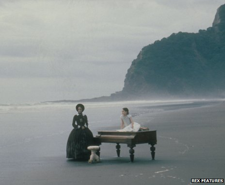 The piano on the beach in The Piano