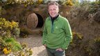 Chris Packham on the set of The Burrowers