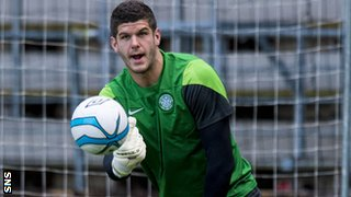 Celtic goalkeeper Fraser Forster