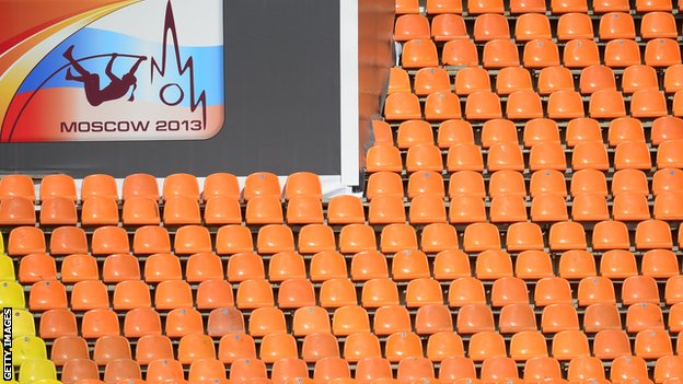 Empty seats in Moscow