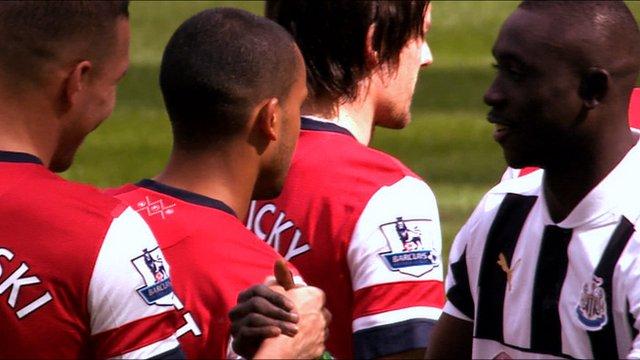 Arsenal meet Newcastle in the Premier League