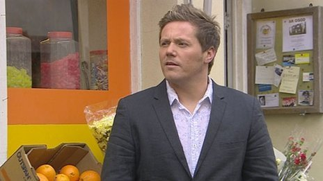 Rhys ap William in a scene from Pobol y Cwm