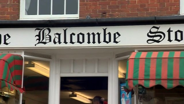 Balcombe store sign