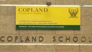 Copland Community School signage