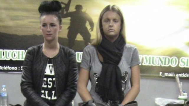 Police handout shows Belfast resident Michaella McCollum Connolly and British citizen Melissa Reid