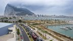 Motorists queue at the border crossing between Spain and Gibraltar at La Linea de la Concepcion on 13 August, 2013