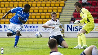 Nigel Hasselbaink scores for St Johnstone against Ross County