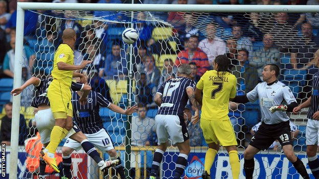 James Vaughan's goal against Millwall