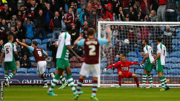 Burnley score their opener