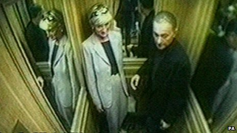 CCTV footage of Princess Diana and Dodi Al Fayed on the day before they died