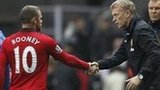 Manchester United manager David Moyes and striker Wayne Rooney