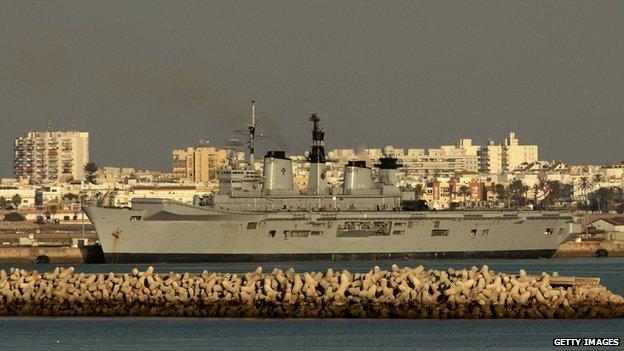 war ship in Gibraltar