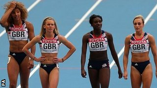 Great Britain's 4x100m team