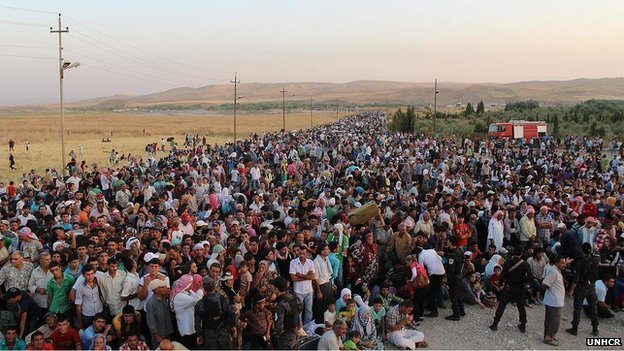 Syrian refugees streaming into Iraqi Kurdistan