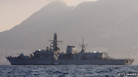 HMS Westminster arrives in Gibraltar