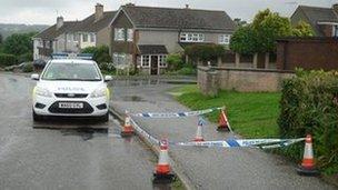 Murder scene, Biscovey, Cornwall, 17 August 2013