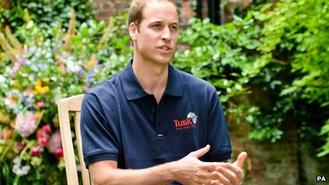 Undated handout photo issued by ITV of the Duke of Cambridge during his first interview since the birth of Prince George for a documentary