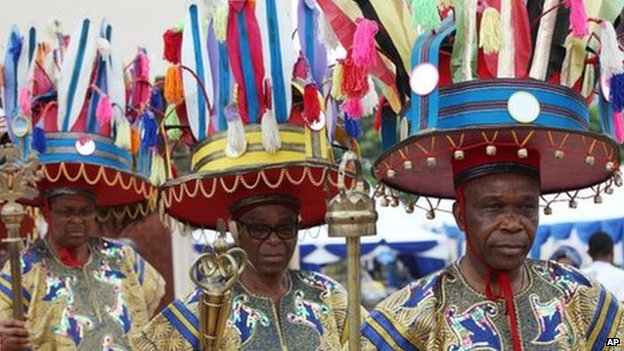 Igbo chiefs in Ogidi, Nigeria, on 23 May 2013