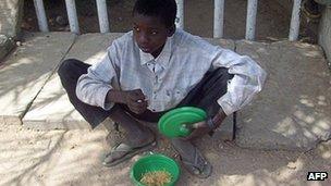 A beggar in Nigeria (10 March 2008)