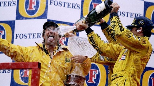 Eddie Jordan and Damon Hill