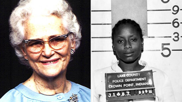 Ruth Pelke (l) and one of her murderers, Paula Cooper (r)