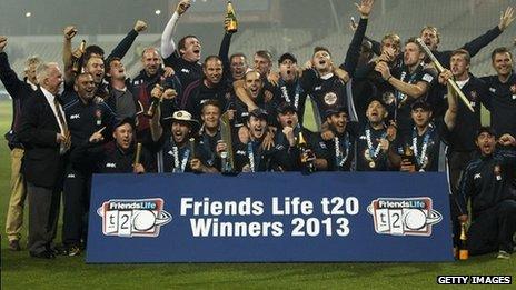Northants celebrate FLt20 win