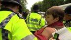 Caroline Lucas is arrested at Balcombe