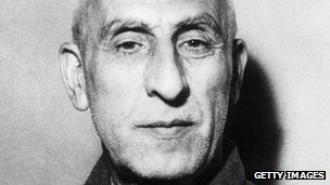 Mohammad Mossadeq, Iranian prime minister until being overthrown in a  CIA-orchestrated coup in 1953