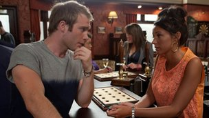 Chris Fountain with Michelle Keegan in Coronation Street