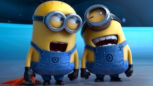 Two minions from Despicable Me 2