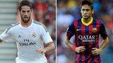 Isco (left) and Neymar