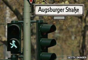 Green man in Germany