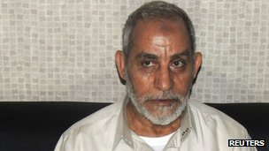Muslim Brotherhood leader Mohammed Badie after his arrest