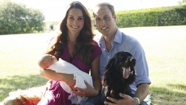 The Duchess and Duke of Cambridge with Prince George