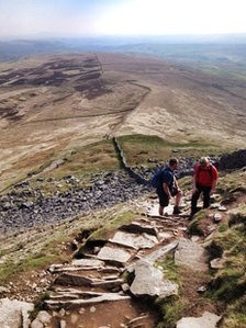 Three Peaks Brass training walk