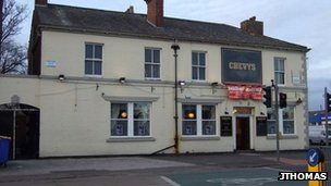 Chevys Public House on Manchester Road