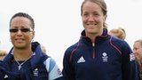 Hope Powell (left) and Casey Stoney
