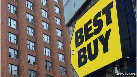Best Buy sign and building
