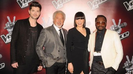Danny O'Donoghue, Sir Tom Jones, Jessie J, will.i.am