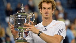 Andy Murray lifts the US Open title in 2012