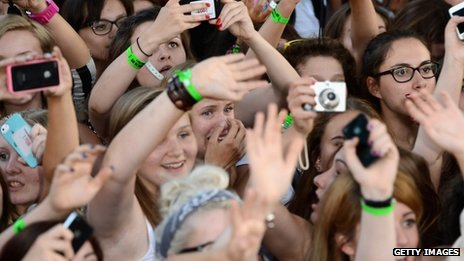 Fans at One Direction premiere