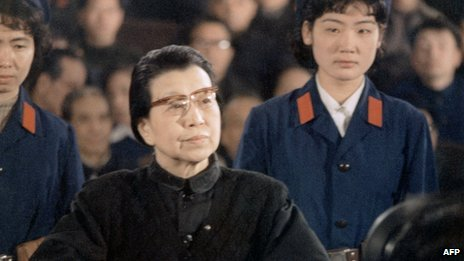 "Picture dated 25 January 1981 in Beijing of Jiang Qing (1914-91), third wife of Mao Zedong during the trial of the ""Gang of Four"", four Shanghai-based hardcore radical leaders of the Cultural Revolution (1966-76)"