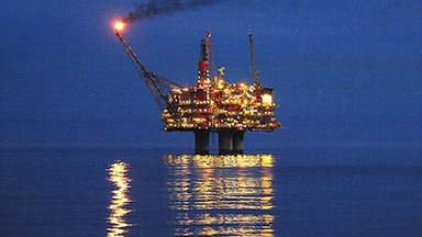 Oil and gas platform in the North Sea. Photo by Terry Cavner